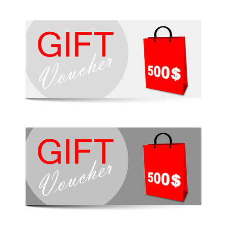 This is vector template gift voucher 500 dollars Ilustração