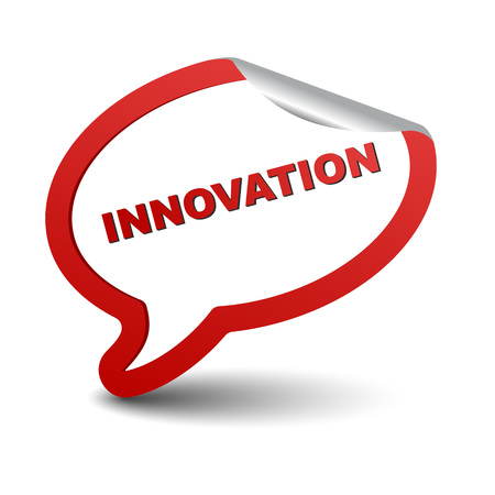 innovator: This is red vector element bubble innovation Illustration