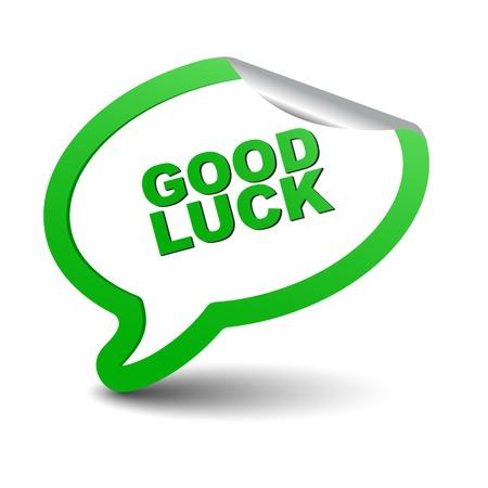 buena suerte: Este es elemento del vector verde burbuja de la buena suerte