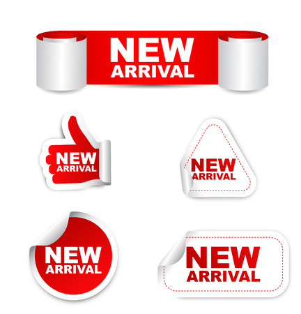 new arrival: This is red vector set paper stickers new arrival