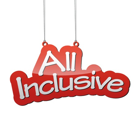 inclusive: This is red vector background all inclusive