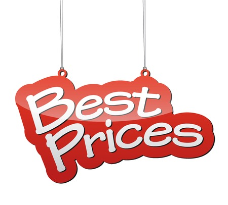 price label: THis is red vector background best prices