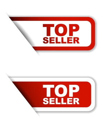 seller: This is red set vector paper stickers top seller