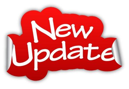 update nieuwe update, sticker nieuwe update, rode sticker nieuwe update, rode vector sticker nieuwe update, nieuwe update eps10, het ontwerpen van nieuwe update, ondertekenen nieuwe update