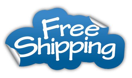 Versand, freies Verschiffen, Aufkleber freies Verschiffen, blauer Aufkleber-freies Verschiffen, Versandkosten blau Vektor-Aufkleber, Zeichen freies Verschiffen eps10, Entwurf freies Verschiffen, freies Verschiffen