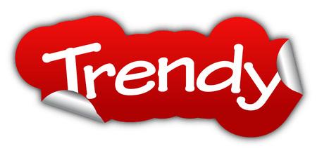 trendy: trendy, sticker trendy, red sticker trendy, red vector sticker trendy, trendy eps10, design trendy, sign trendy