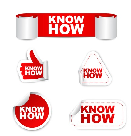 know how, sticker know how, red sticker know how, red vector know how, know how eps10, design know how, sign know how, banner know how, set stickers know how
