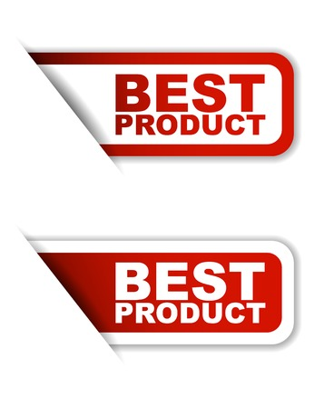 best product: This is red set vector paper stickers best product