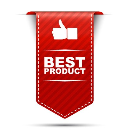 best product: This is red vector banner design best product