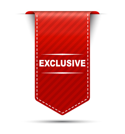 exclusive: This is red vector banner design exclusive Illustration