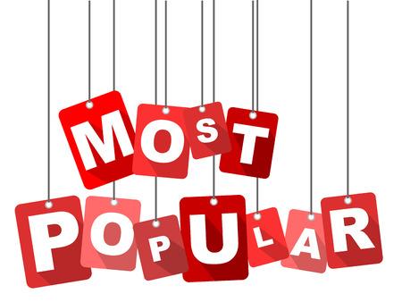 most popular: most popular, red vector most popular, flat vector most popular, background most popular