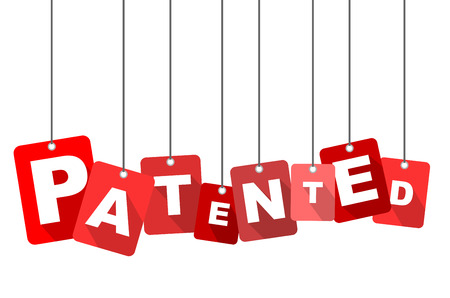 patented, red vector patented, flat vector patented, background patented