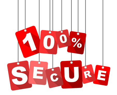 secure: 100% secure, red vector 100% secure, flat vector 100% secure, background 100% secure