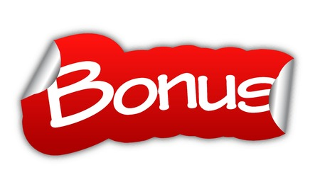 bonus: bonus, sticker bonus, red sticker bonus, red vector sticker bonus, bonus