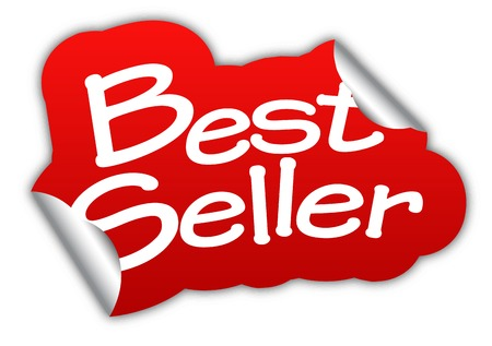 seller: best seller, sticker best seller, red sticker best seller, red vector sticker best seller
