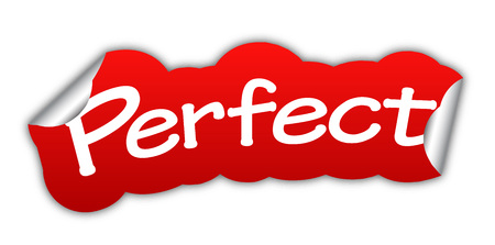 perfect, sticker perfect, red sticker perfect, red vector sticker perfect