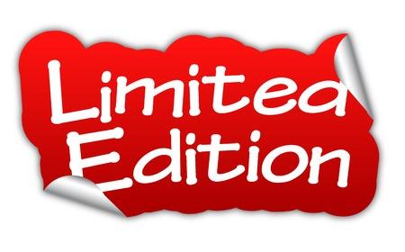 limited: limited edition, sticker limited edition, red sticker limited edition, red vector sticker limited edition