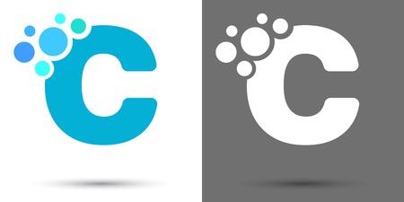 letter c: letter c, blue
