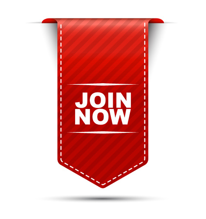 join now: join now, banner join now, vertical banner join now, red banner join now, red vector banner join now, design join now, sign join now