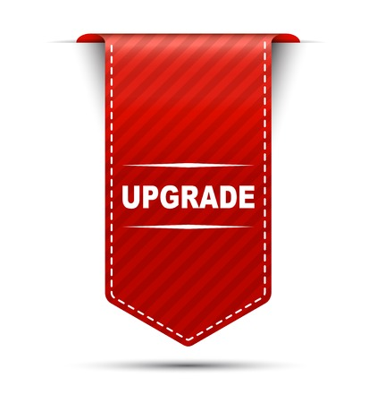 upgrade: upgrade, banner upgrade, red banner upgrade, red vector banner upgrade, vector vertical banner upgrade Illustration