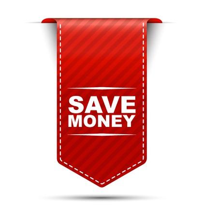 save money, banner save money, red banner save money, red vector banner save money, vertical banner save money