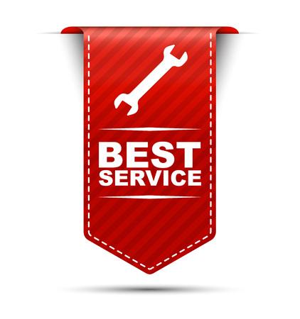 best service, banner best service, red banner best service, red vector banner best service, vertical banner best service