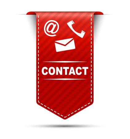 contact: contact, banner contact, red banner contact, red vector banner contact, vertical banner contact, design contact, sign contact Illustration