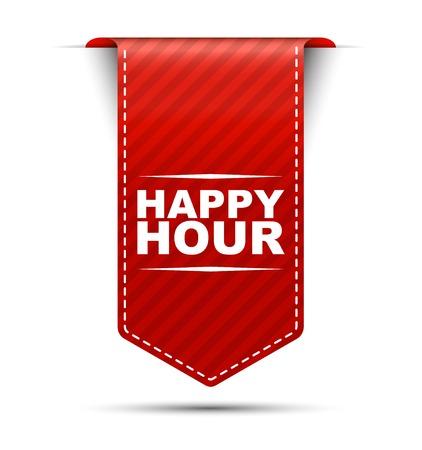 hora feliz, bandera hora feliz, bandera roja hora feliz, vector de la bandera roja hora feliz, vertical bandera hora feliz, diseño de la hora feliz, firmar hora feliz