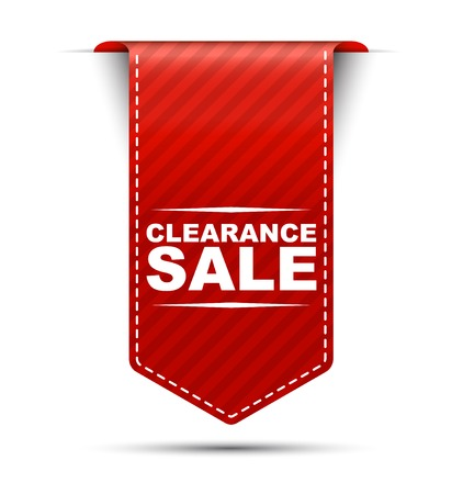 clearance sale, banner clearance sale, red banner clearance sale, red vector banner clearance sale, vertical banner clearance sale Ilustrace