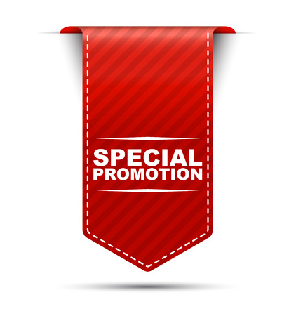 special promotion, banner special promotion, red banner special promotion, red vector special promotion, vertical banner special promotion, design special promotion, sign special promotion Illusztráció