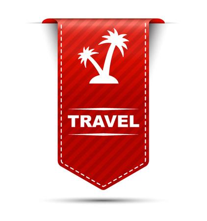 travel, banner travel, red banner travel, red vector banner travel, vertical banner travel, design travel