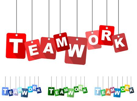 teamwork: teamwork, red vector teamwork, flat vector teamwork, background teamwork