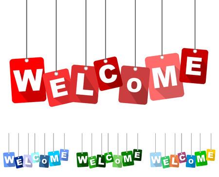 bienvenida, vector de red recepción, plana vector de bienvenida, el fondo de bienvenida
