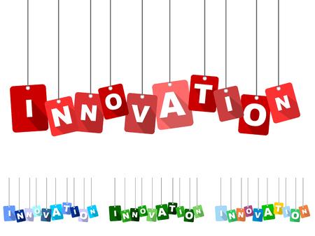 innovation, red vector innovation, flat vector innovation, background innovation Çizim