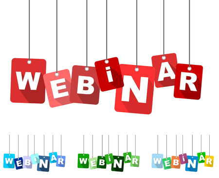 webinar, red vector webinar, flat vector webinar, background webinar 向量圖像