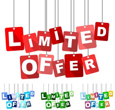 limited offer, red vector limited offer, flat vector limited offer, background limited offer Vektoros illusztráció