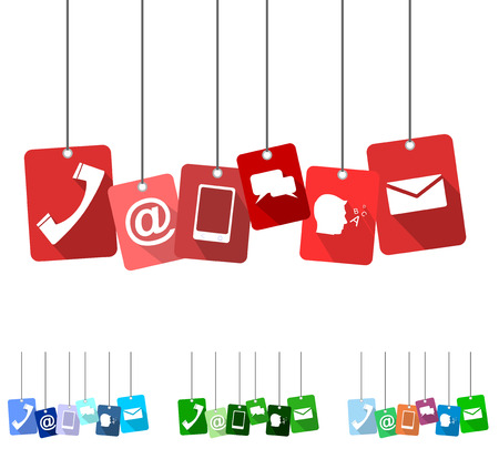 contact: contact, red vector contact, flat vector contact, background contact Illustration