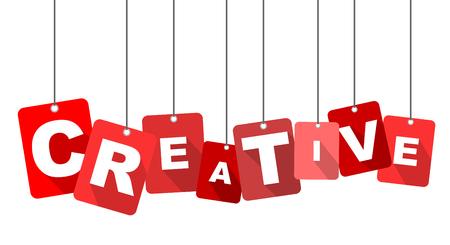creative: creative, red vector creative, flat vector creative, background creative Illustration