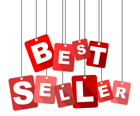 seller: best seller, red vector best seller, flat vector best seller, background best seller