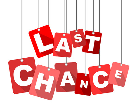 last chance, red vector last chance, flat vector last chance, background last chance Illustration