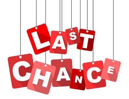 laatste kans, rode vector laatste kans, platte vector laatste kans, achtergrond laatste kans