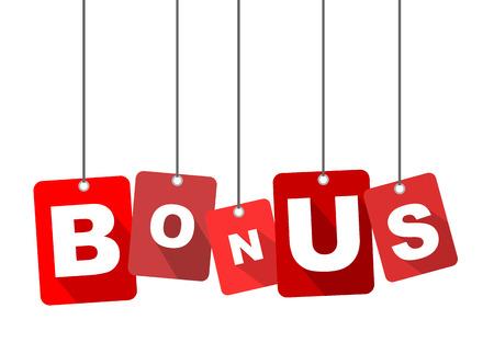 bonus, rode vector bonus, plat vector bonus, achtergrond bonus