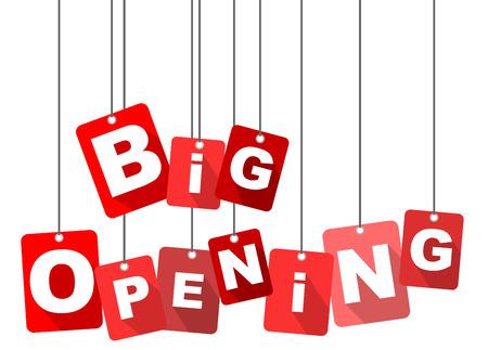 Große Öffnung, rot Vektor große Öffnung, flache Vektor große Öffnung, Hintergrund große Öffnung Standard-Bild - 59666495