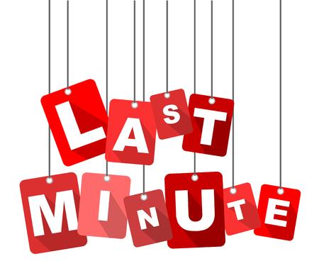 last minute, red vector last minute, flat vector last minute, background last minute