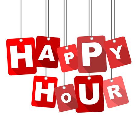 happy hour, red vector happy hour, flat vector happy hour, background happy hour