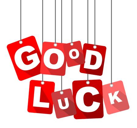 luckiness: good luck, red vector good luck, flat vector good luck, background good luck Illustration