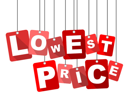 lowest: lowest price, red vector lowest price, flat vector lowest price, background lowest price
