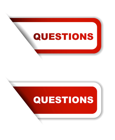 questions: questions, sticker questions, red sticker questions, red vector sticker questions, set stickers questions, design questions, sign questions Illustration