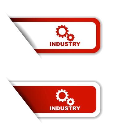 industry, sticker industry, red sticker industry, red vector sticker industry, set stickers industry, design industry, sign industry