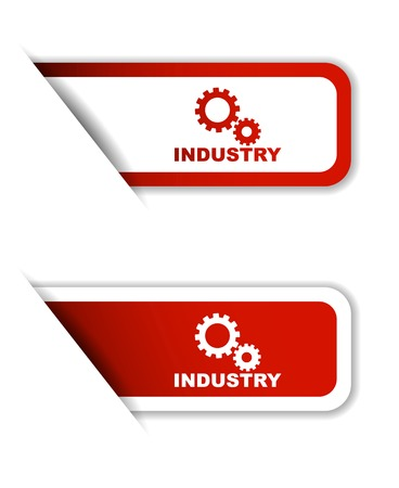 industry: industry, sticker industry, red sticker industry, red vector sticker industry, set stickers industry, design industry, sign industry